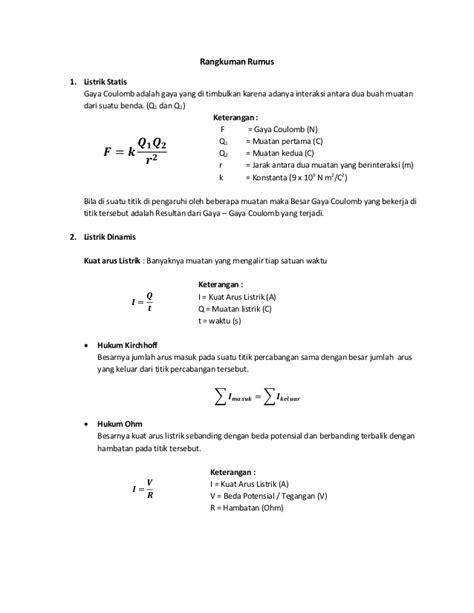 rangkuman rumus kelas 9