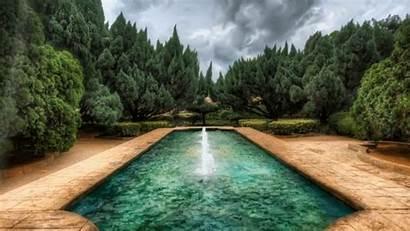 Fountain Nature Garden Fountains 1080p Patio Computer