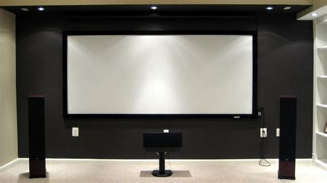 projection screen cinema size    brightness