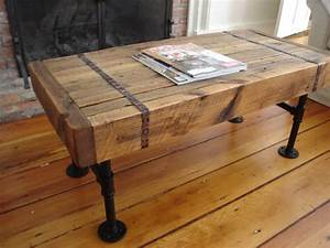 reclaimed wood pipe coffee table With reclaimed wood coffee table and end tables