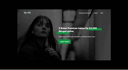 Spotify Redesign Ad Website Unofficial Behance Button