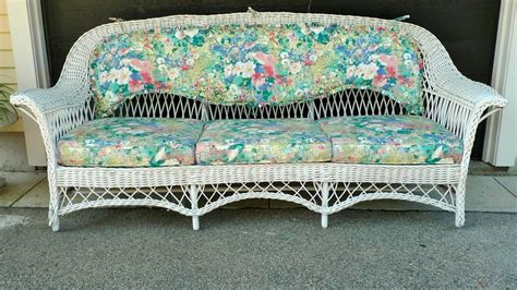 Antique Wicker Loveseat by Antique Wicker Sofa At 1stdibs