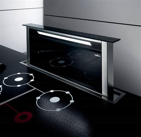 Andante Downdraft Extractor Stainless Steel / Black Glass