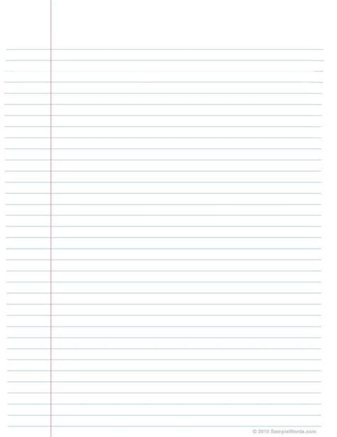 printable lined notebook paper notebook paper