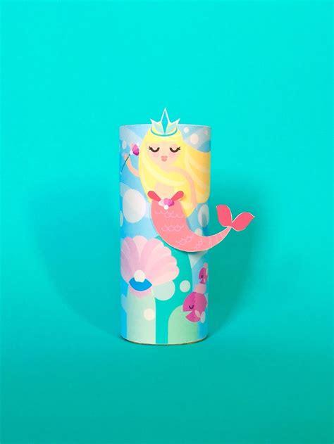 mermaid toilet tube craft printable     paper