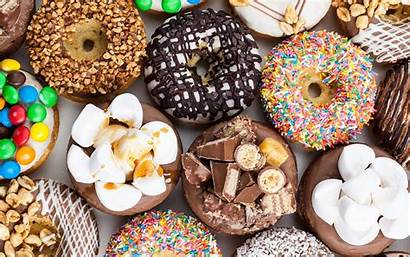 Donuts Doughnut Chocolate Sweets Marshmallow Sfondi Dolci
