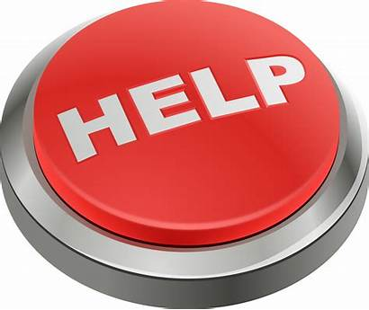 Button Help Clipart Easy Emergency Support Web