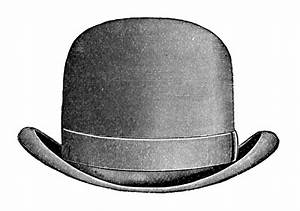 Vintage Clip Art - Men's Hats - Derby & Top Hat - The ...