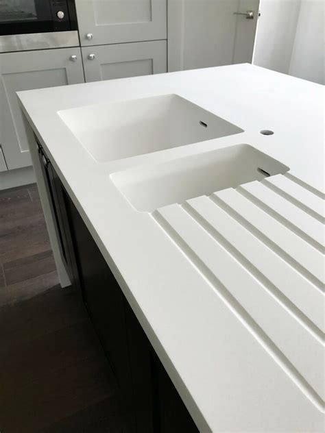 White Corian Worktop by Corian Worktops Any Size Starting From 163 129 Seamless
