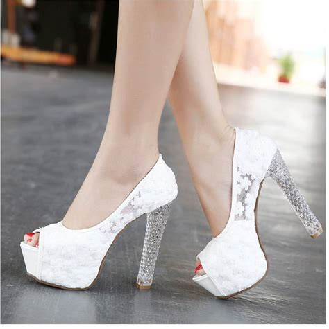 Wedding High Heels by Womens Wedding Shoes 2016 High Heels Peep