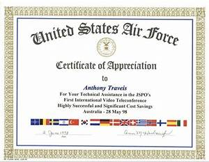 sample air force certificate of appreciation gallery With air force certificate of appreciation template