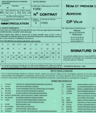 numero de carte verte assurance temporaire en direct