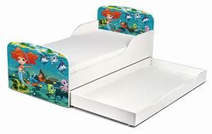 Kinderbett Matratze 140x70 : kinderbett 140x70 cm mit matratze und schublade thema meerjungfrau ~ Frokenaadalensverden.com Haus und Dekorationen