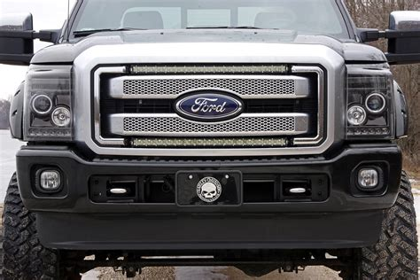 30in single row led light bar grille kit for 11 16