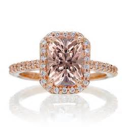 1 5 carat engagement ring 1 5 carat emerald cut morganite and halo engagement ring on 9ct gold jeenjewels