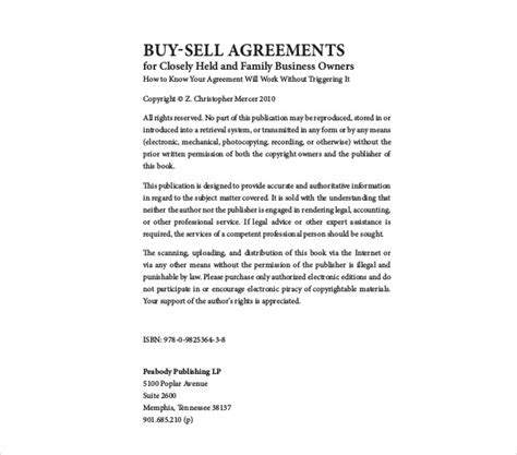 buy sell agreement examples   examples