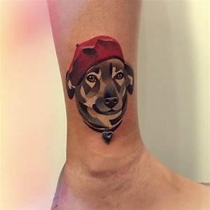 9+ Amazing Dog Tattoos On Leg