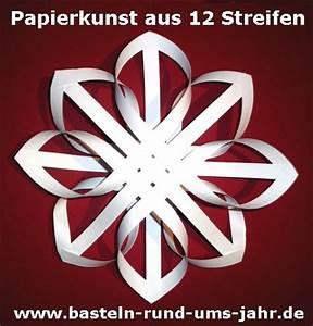 Basteln Mit Papierstreifen : papierkunst ein nostaligischer stern aus 12 streifen ~ A.2002-acura-tl-radio.info Haus und Dekorationen