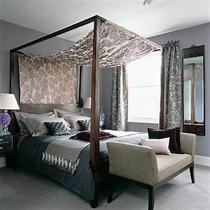 Four-poster bedroom with silks and velvets housetohome co uk