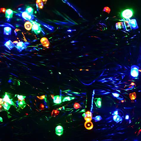 Le Buntes Kabel by Lichterkette 100 Led Bunt Gr 252 Nes Kabel Au 223 En Weihnachten