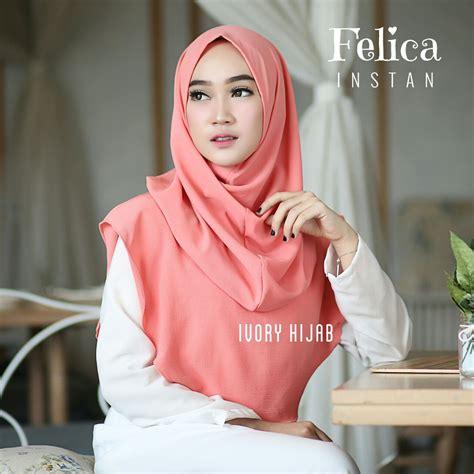 fashion hijab terbaru  hijab instan felica simple trend fashion style hijab  terbaru