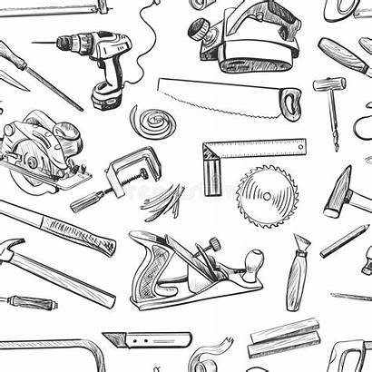 Tools Hand Vector Common Drawn Pattern Carpentry