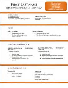 free microsoft office resume templates 2014 free cv resume templates 170 to 176