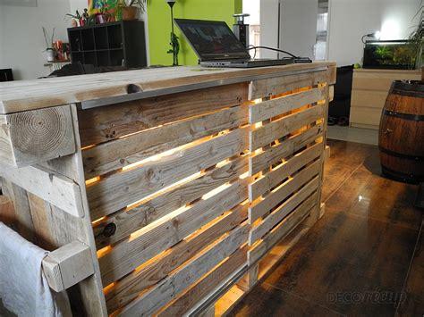 fabriquer un comptoir de cuisine en bois lovely ilot central en palette 2017 et fabrication ilot