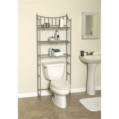 bathroom over the toilet storage cabinets shelves over the toilet as the additional storage for
