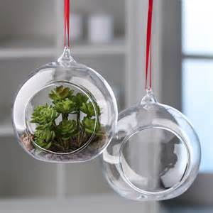 clear glass side opened terrarium ornaments christmas ornaments christmas and winter