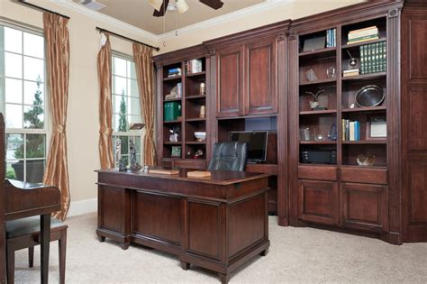 Custom Builtin Cabinetry  Traditional  Home Office