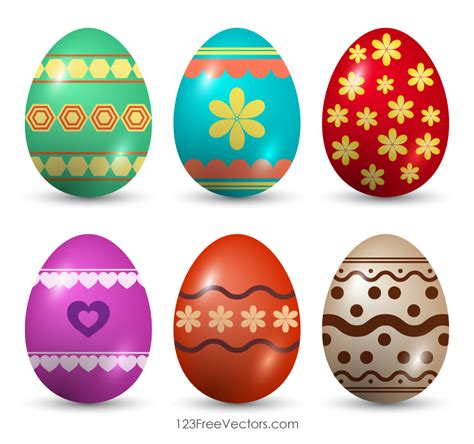 Easter Eggs Clip Painted Easter Eggs Clip 123freevectors