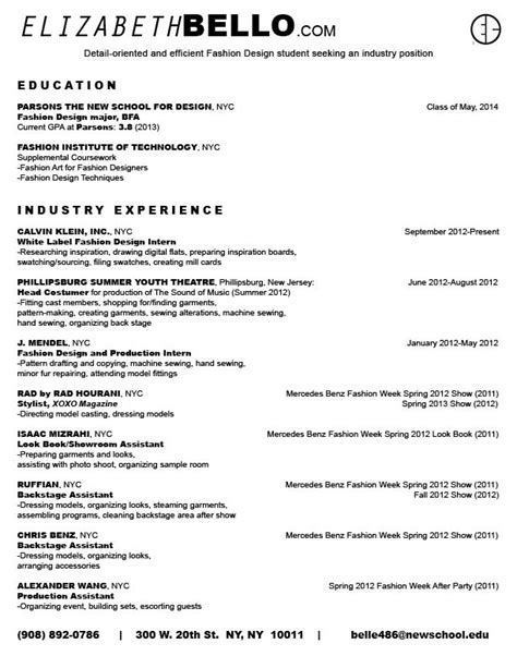 Fashion Industry Resume Services by Fashionindustry Resume 点力图库