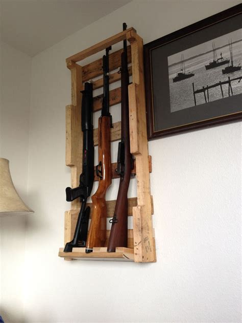 pallet wood gun cabinet plans pallet gun rack mountain adventures pinterest