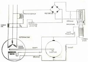 Draw The Schematic Circuit Diagram Of Automatic Voltage