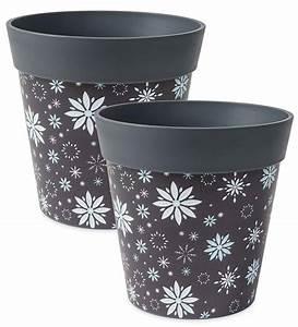 Holiday, Hum, Pot, Colorful, Plastic, Plant, Pots, Set, Of, 2