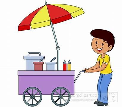 Vendor Clipart Street Cart Clip Vending Occupation