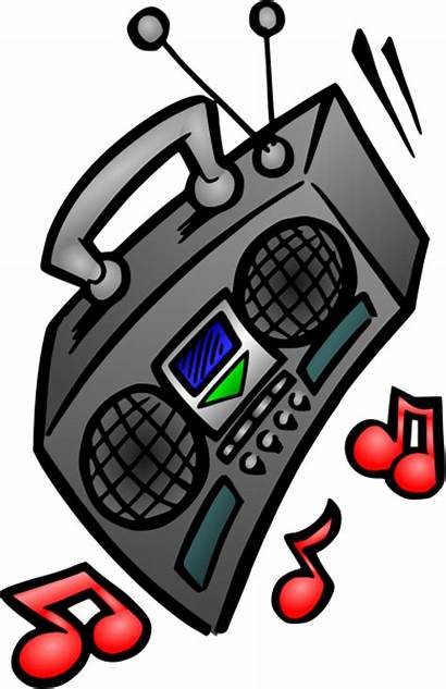 Radio Clip Clipart Box Boombox Boom Comic