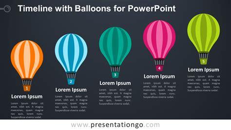 timeline  balloons  powerpoint presentationgocom