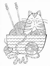 Coloring Yarn Crochet Knit Knitting Pages Books Knitpicks Adult Dream Cat Habit Franklin Through sketch template