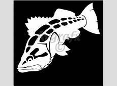 1 COLOR CAR WINDOW DECALS FISH Calico Bass Decal
