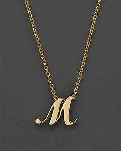 roberto coin 18k yellow gold letter initial pendant With necklace letters gold