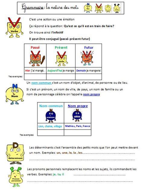 exercice nature des mots cm2 mon fichier d exercices sur la nature des mots ce1 ce2 grammaire facile retz le de