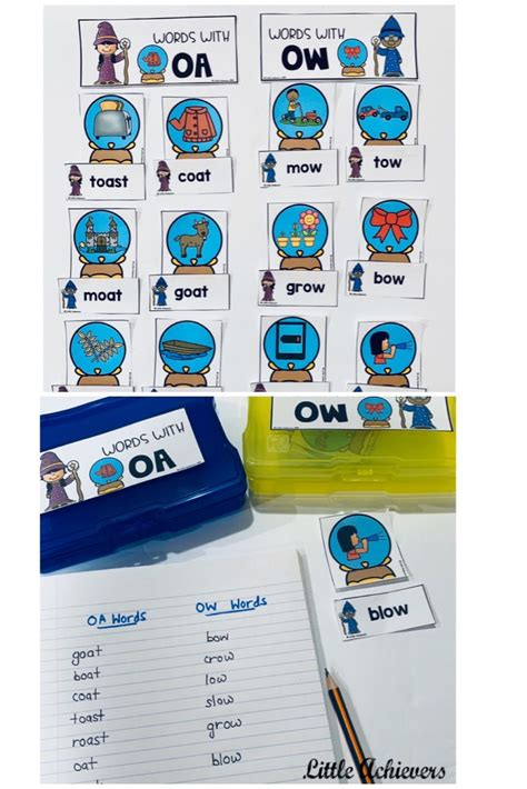 vowel teams worksheets oa  ow worksheets