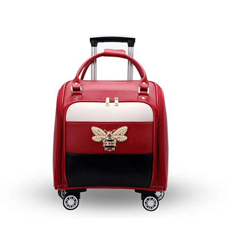 TRAVEL TALE 2018 leather suitcase women carry on travel ...