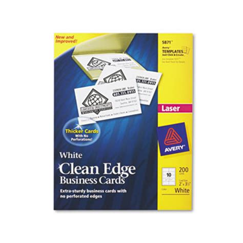 avery 5871 template avery 5871 premium clean edge business cards