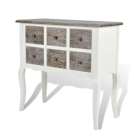 white wood console table console cabinet console table with 6 drawers white wood