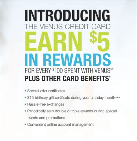 Find 26 venus promo codes for july 2021. The VENUS Credit Card - Earn Rewards and Benefits Today!