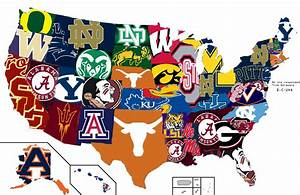 Map of the most hated CFB team by state