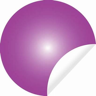 Peeling Sticker Pink Clip Onlinelabels Svg